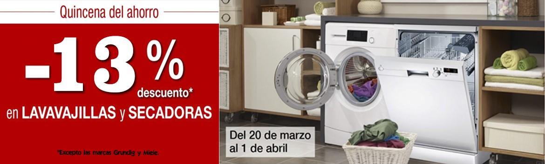 -13% secadoras y lavavajillas