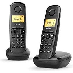 GIGASET TELEFONO INALAMBRICO A170 DUO NEGRO