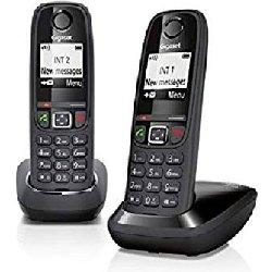 GIGASET TELEFONO INALAMBRICO AS405 DUO NEGRO