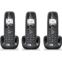 GIGASET TELEFONO INALAMBRICO AS405 TRIO NEGR